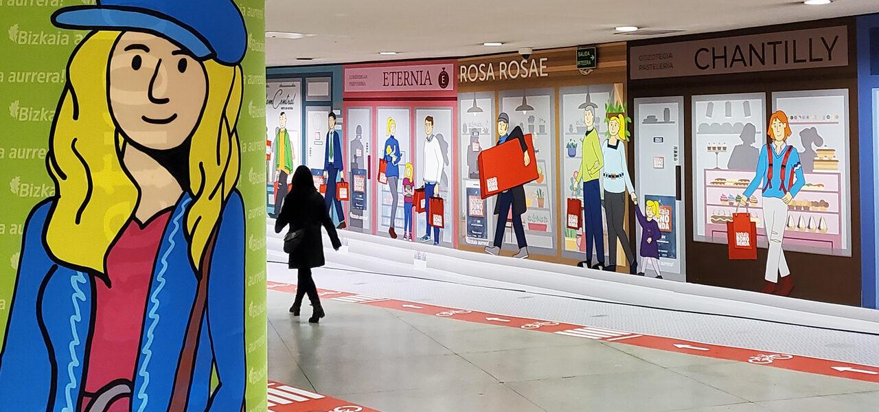 bizkaia bono denda-metro bilbao-diseño-creatividad-ilustracion-la central badiola
