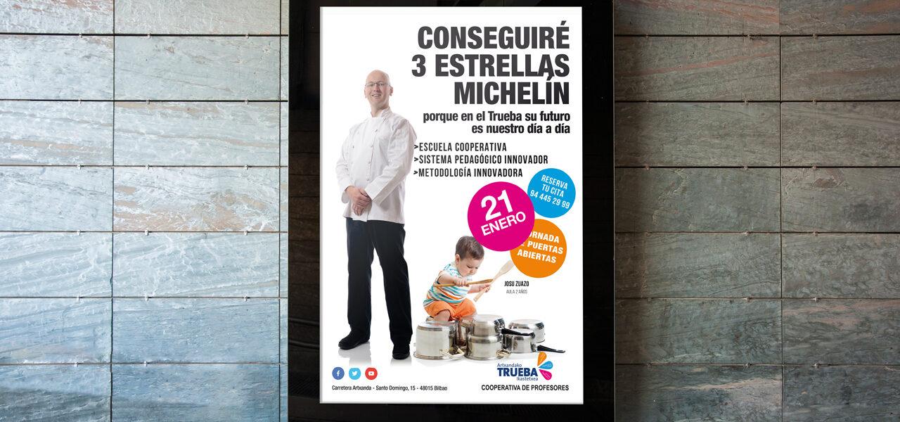 Colegio-Trueba-Prepara-hoy-a-los-niños-del-futuro-diseño-carteles-metro-bilbao-la central badiola